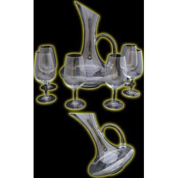 Service à vin carafe et verres Modèle Bouquet