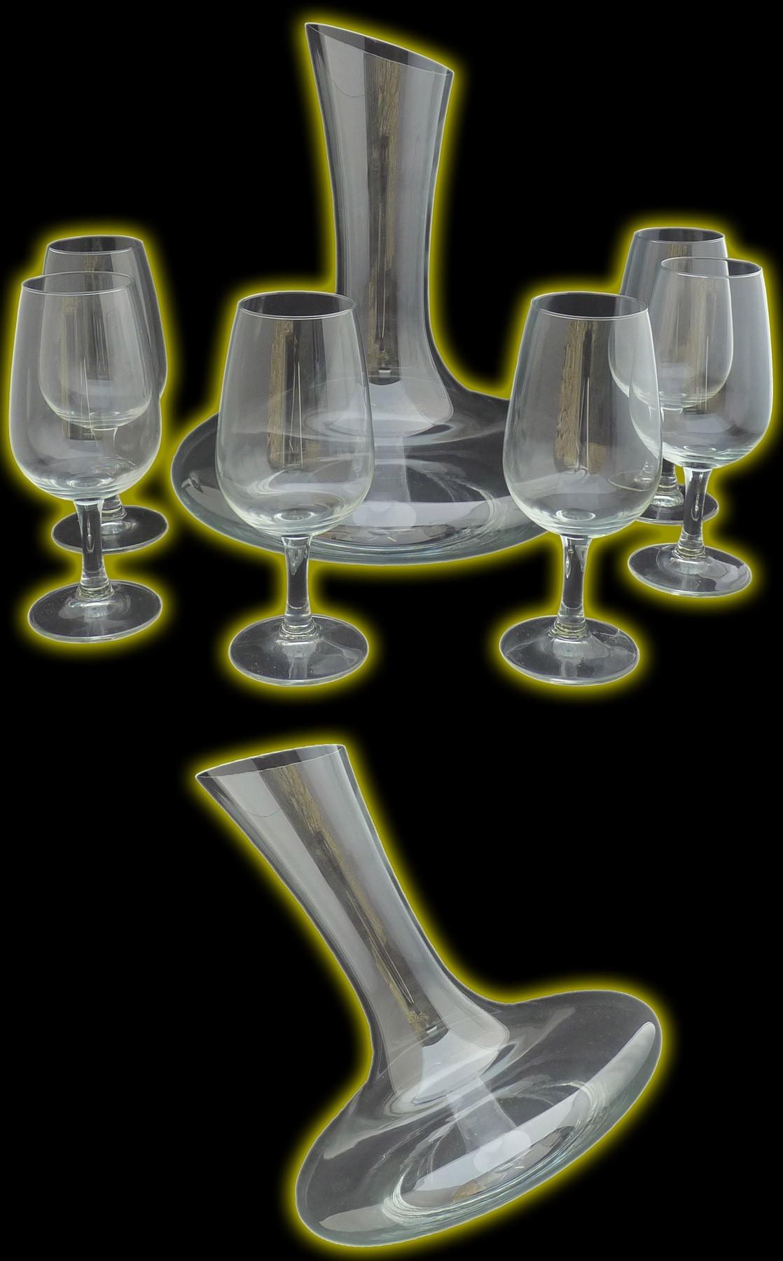 Service à vin carafe et verres Vignoble