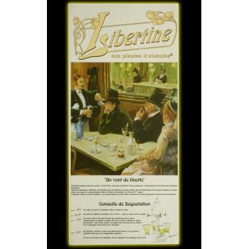 Coffret Libertine Fleur d'Absinthe 70cl verres et cuillères dos