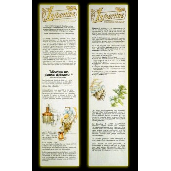 Coffret Libertine Originale 70cl verres et cuillères côtés