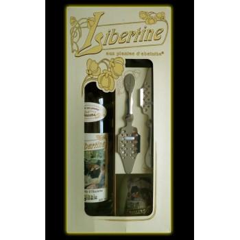 Coffret Libertine Originale 70cl verres et cuillères étui