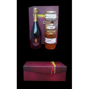 Coffret gastronomique Foie gras Daube Provençale et Prosecco
