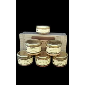 Coffret authentique 6 terrines au champignons