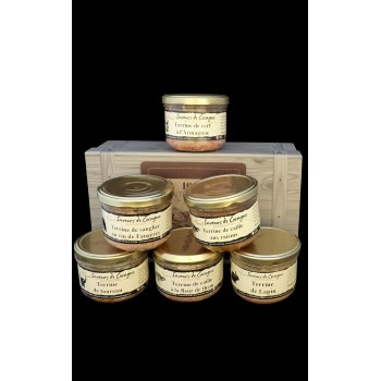 Coffret authentique assortiment de 6 terrines