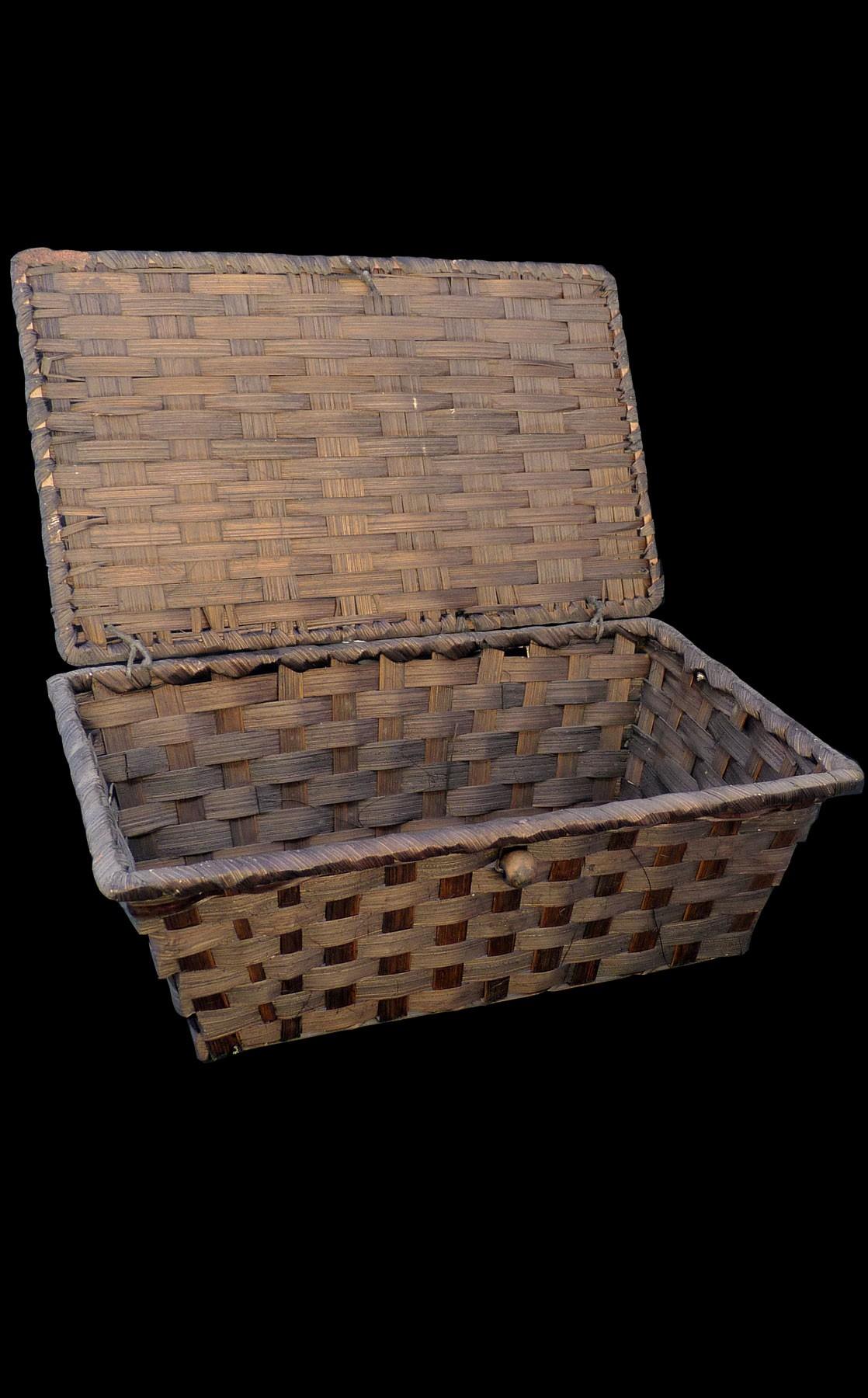 Coffret bambou rectangle coloris marron petit modèle