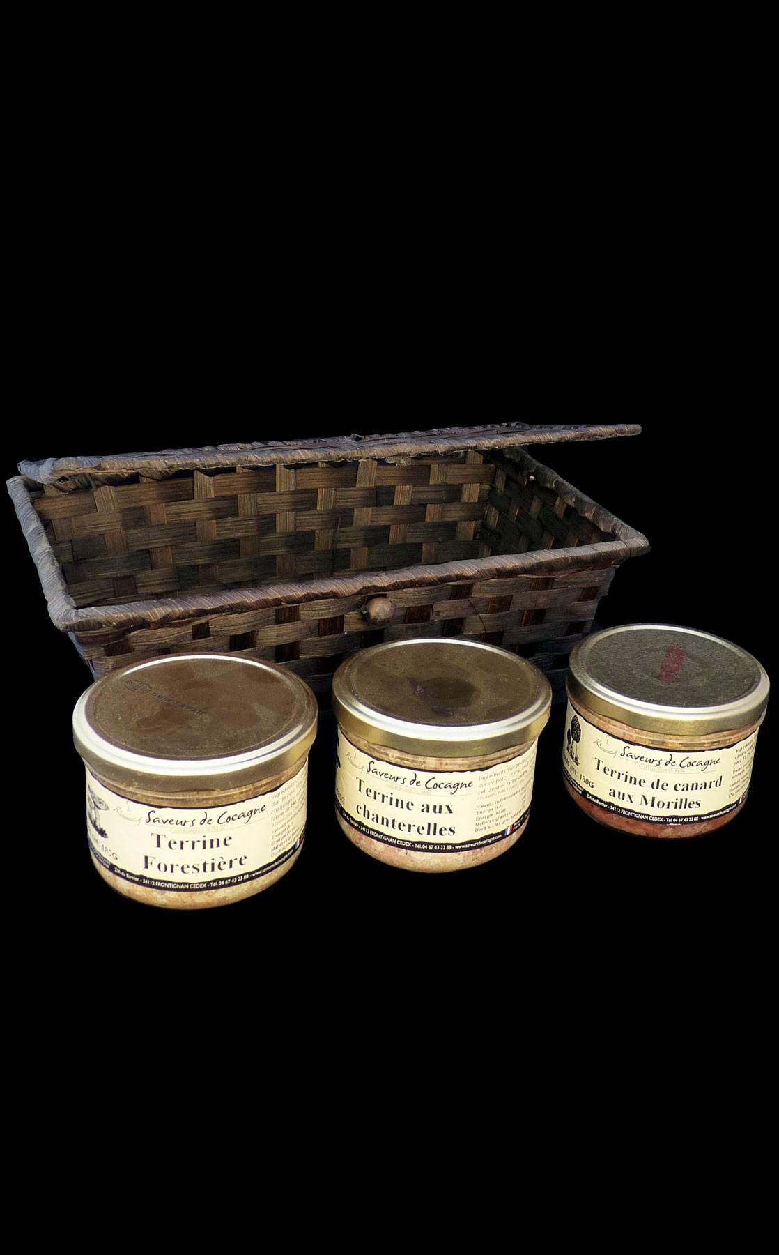 Coffret 3 terrines champignons n°1