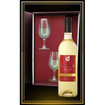 Coffret cadeau Image Innée, 2 verres à vin et Hydromel moelleux 75cl