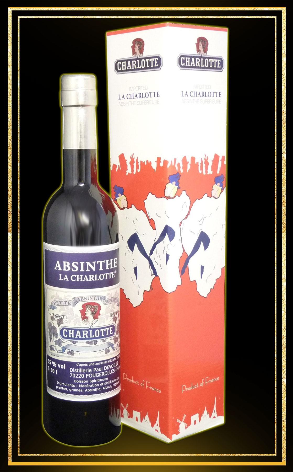 Coffret cadeau Absinthe Charlotte 50cl