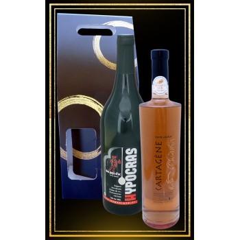 Coffret cadeau Hypocras Rouge et Cartagène du Languedoc 75cl