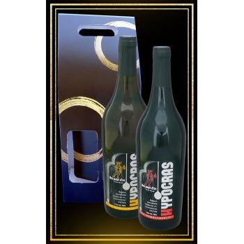 Coffret cadeau vins du moyen age Hypocras Blanc et rouge 75cl