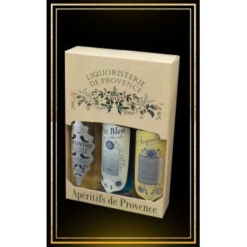 Coffret Anis de Provence 3x10cl Anis, Pastis et Absinthe