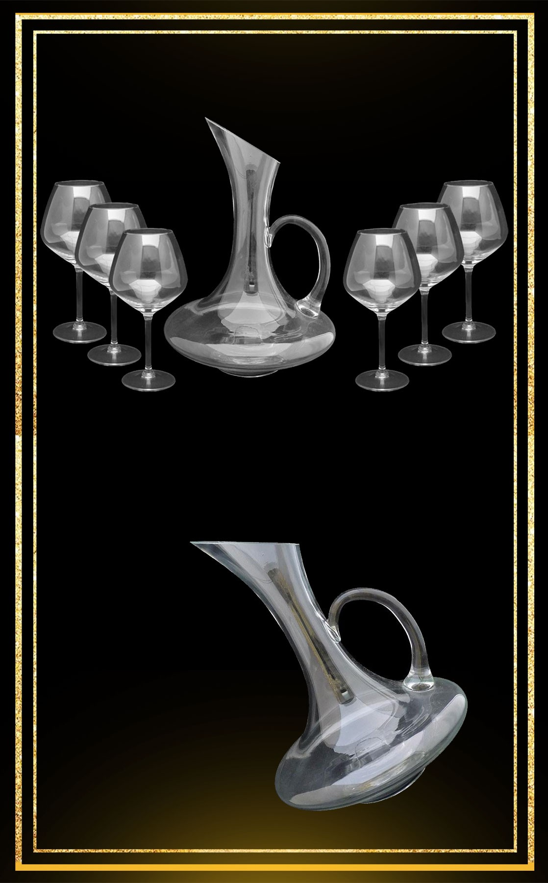 Service carafe Bouquet verres Virtuosa 42cl