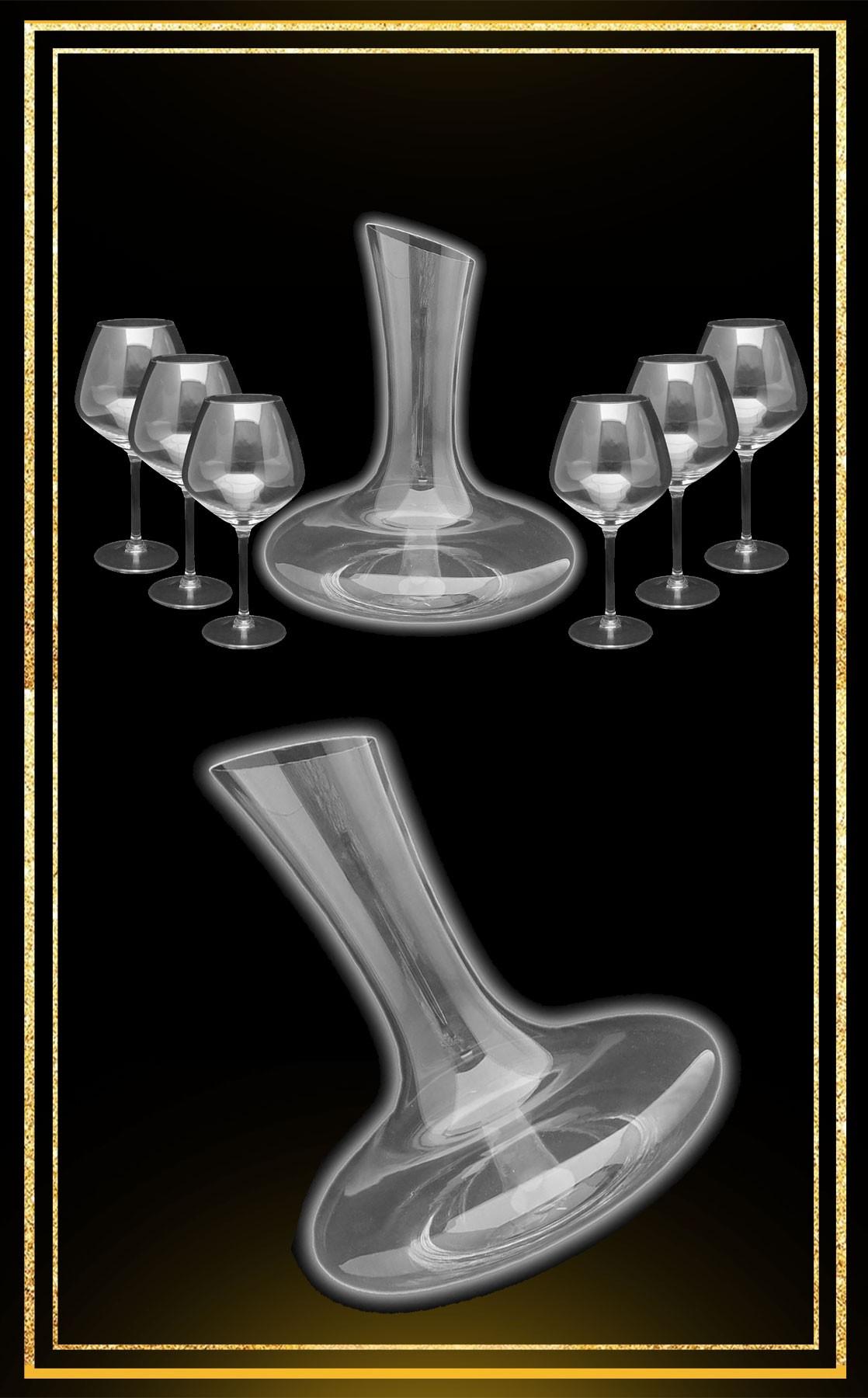 Service carafe Vignoble verres Virtuosa 42cl