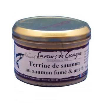 Terrine de saumon au saumon fumé et aneth 180g